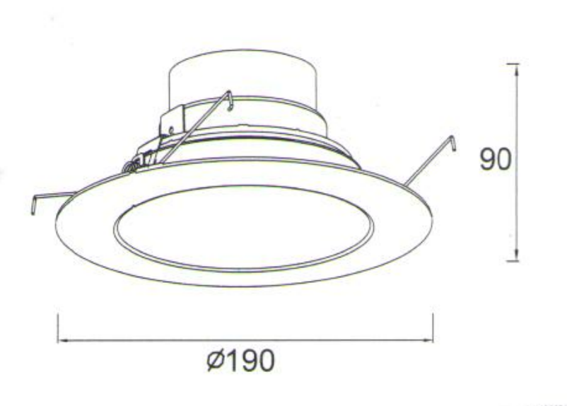 6 Inch 12w Trimless Led Ceiling Downlight Manufacturers, 6 Inch 12w Trimless Led Ceiling Downlight Factory, Supply 6 Inch 12w Trimless Led Ceiling Downlight