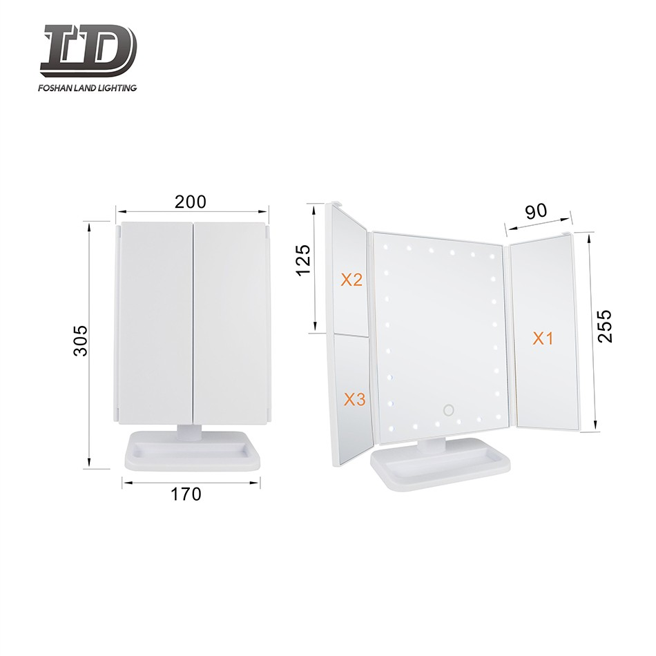 Foldable Light Mirror 3X Magnifying Touch Switch With Batteries IP44 Manufacturers, Foldable Light Mirror 3X Magnifying Touch Switch With Batteries IP44 Factory, Supply Foldable Light Mirror 3X Magnifying Touch Switch With Batteries IP44