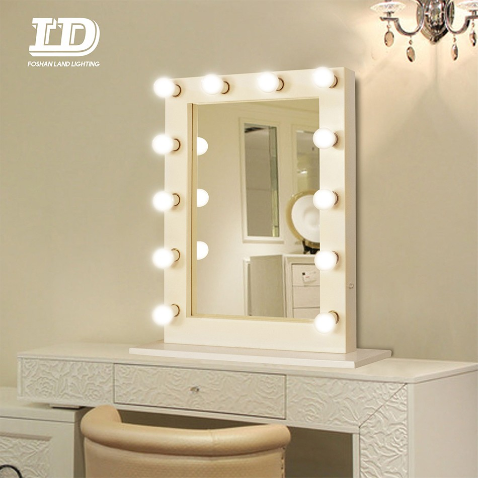 With Led Light Bulbs Table Top 12 Bulbs Dimmable Mirror Manufacturers, With Led Light Bulbs Table Top 12 Bulbs Dimmable Mirror Factory, Supply With Led Light Bulbs Table Top 12 Bulbs Dimmable Mirror