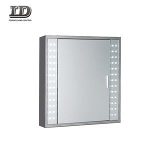 Wall Mounted Aluminum Vanity Medicine Bathroom Mirror Cabinet With Led Light