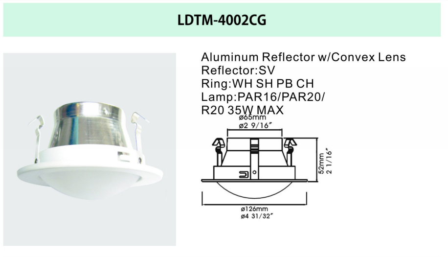 4 inch led recessed light trim
