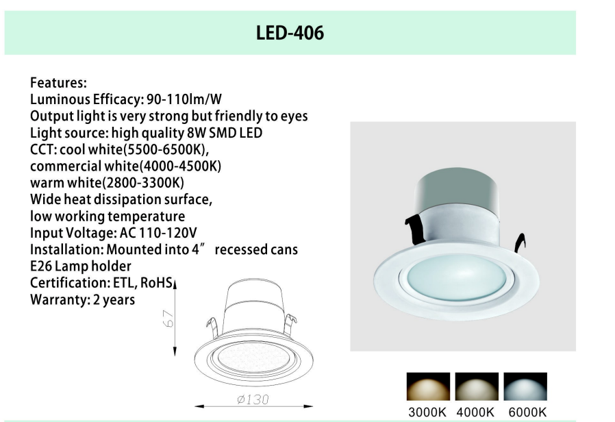 mounting led downlight