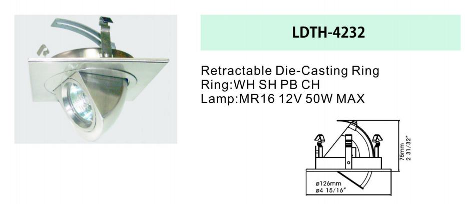 retractable downlight retrofit kit