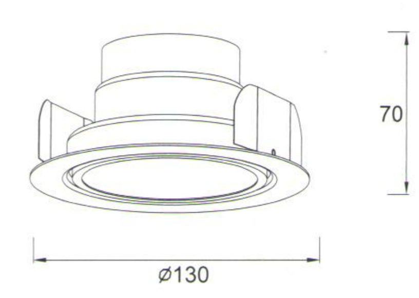 indoor led recessed light