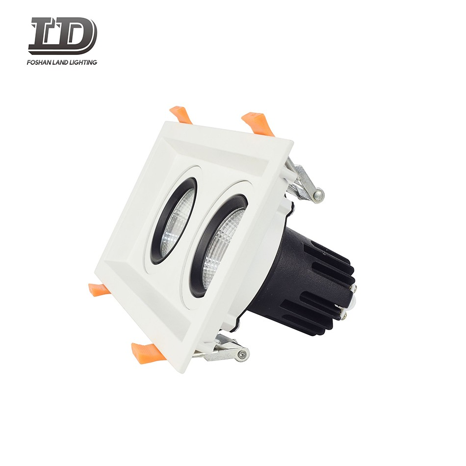 24w Square Led Gimbal Downlight two heads Manufacturers, 24w Square Led Gimbal Downlight two heads Factory, Supply 24w Square Led Gimbal Downlight two heads