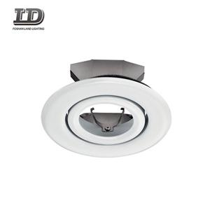 4 Inch Setrika Putih Finish Gimbal Downlight Adjustable Trim