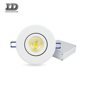 4 Inch Cob Recessed Gimbal Led Downlight IC Airtight Trim