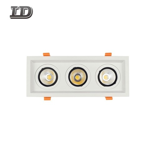 36w Led Square Gimbal Downlight Trim