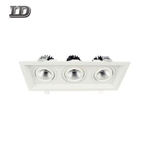 36w Cob commercial Led downlight Trim with multiple-heads