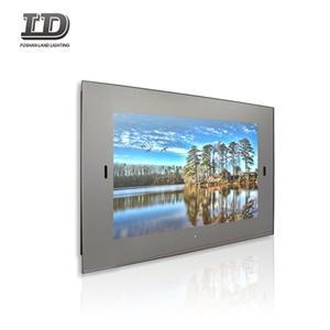 Frameless Waterproof Smart Mirror TV For Advertising