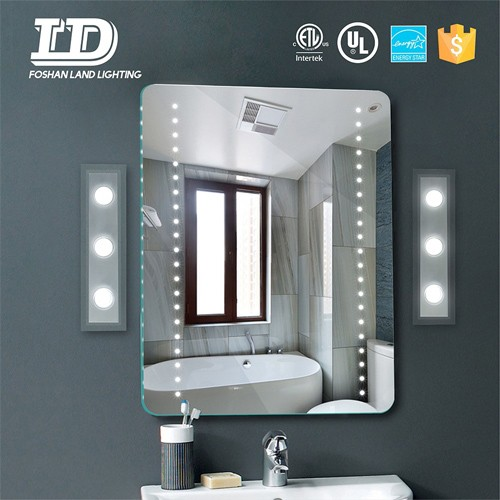 Bathroom Mirror With Lamp Acrylic Led Mirror Wall Lamp ETL IP44