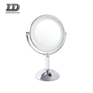 Mirror With Led Light Square 3x Magnifying Hotel Mirror Light IP44