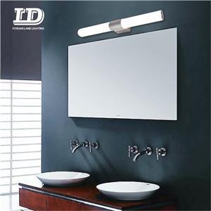 LED Vanity Lights Fixtures Stainless Steel Light IP44 Modern Bathroom Vanity Mirror Front