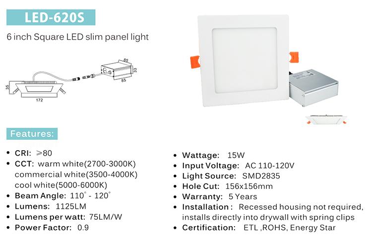 surface mounted led panel ligh