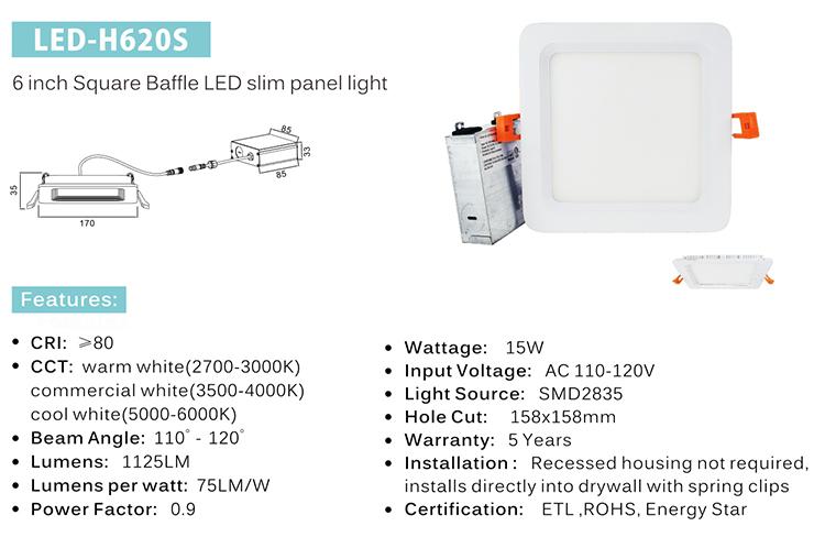 4 inch super slim panel light