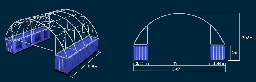 Cheap Container Curve Tent