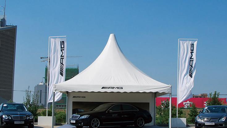 Customized Printed pagoda tent Brands