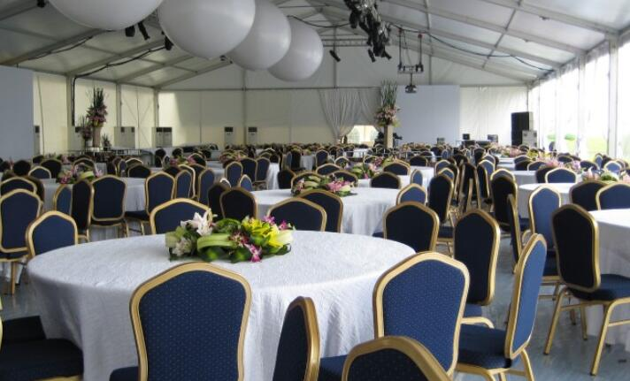 Marquee tent feast