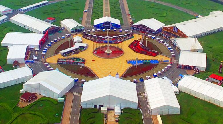 Sports venue tent