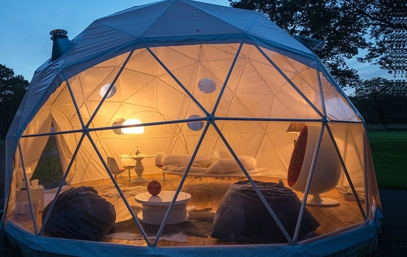 Transparent dome tent