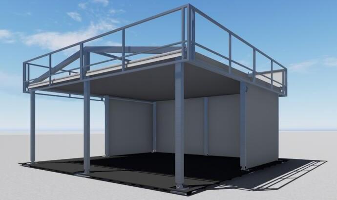 Structure de tente modulaire en cube carré