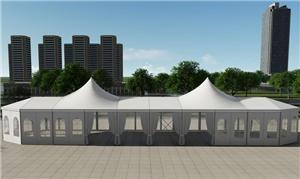 Multilateral shape and Pagoda mixed tent