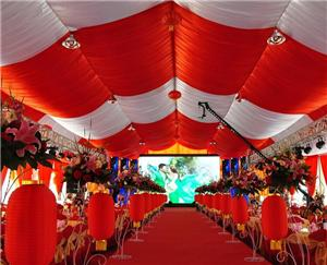 Red theme Marquee tent Wedding tent