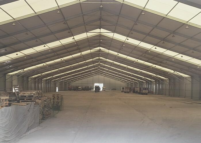 Storage marquee tent