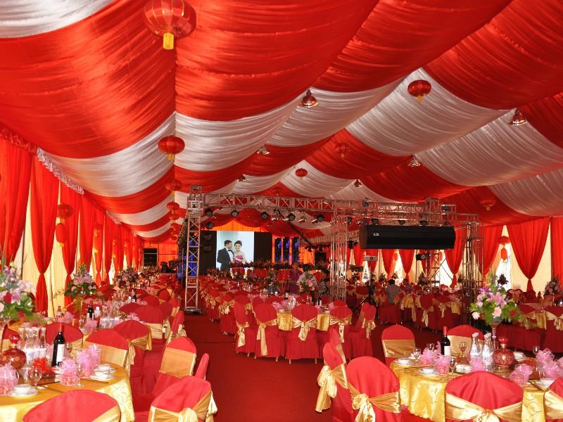 लाल विषय मार्की तम्बू वेडिंग तम्बू
