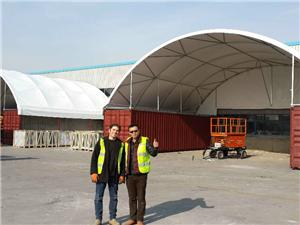 Container Curve Tent
