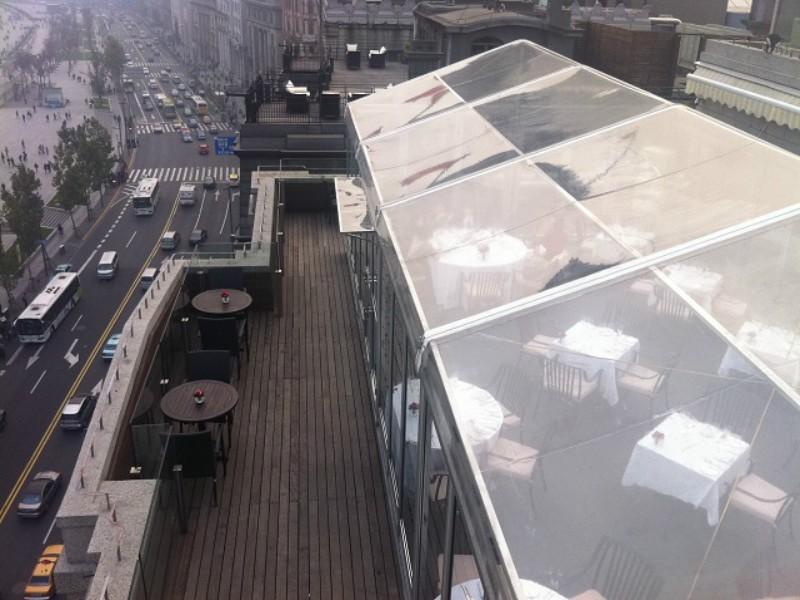 غطاء سقف PVC واضح