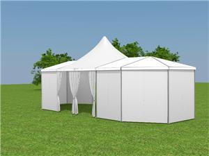 خيمة مختلطة شفافة متعددة الجوانب