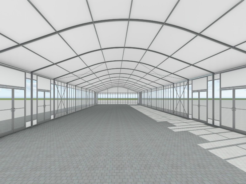 Curve Tent For Temporary Warehouse