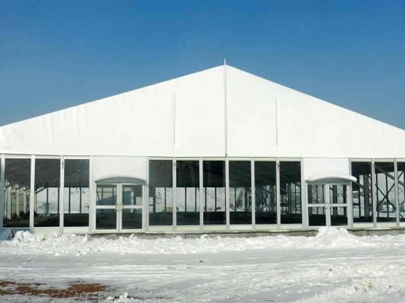 Glass wall Marquee tent Ski resort exhibition