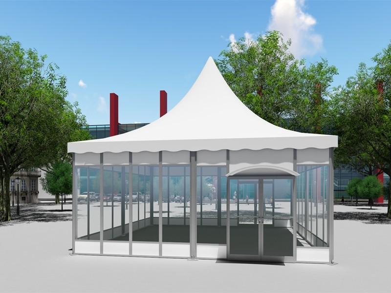 خيمة المعبد في الهواء الطلق المظلة للحدث