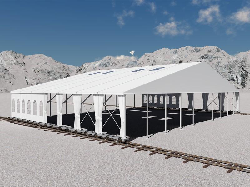 barraca de armazém de alumínio