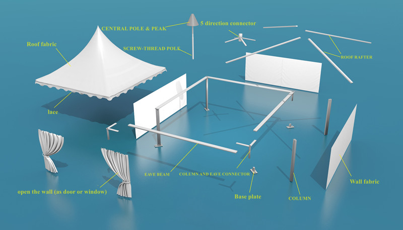 Pagoda tent for events