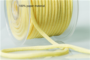 100% paper material braid rope,knitted paper rope, for paper bags