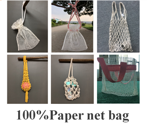 Co-friendly Paper string bag, paper net bag