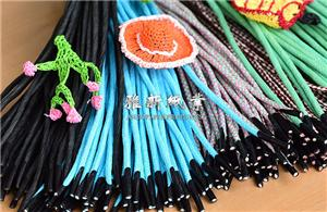 Braided Paper Cord With Plastic Barbs