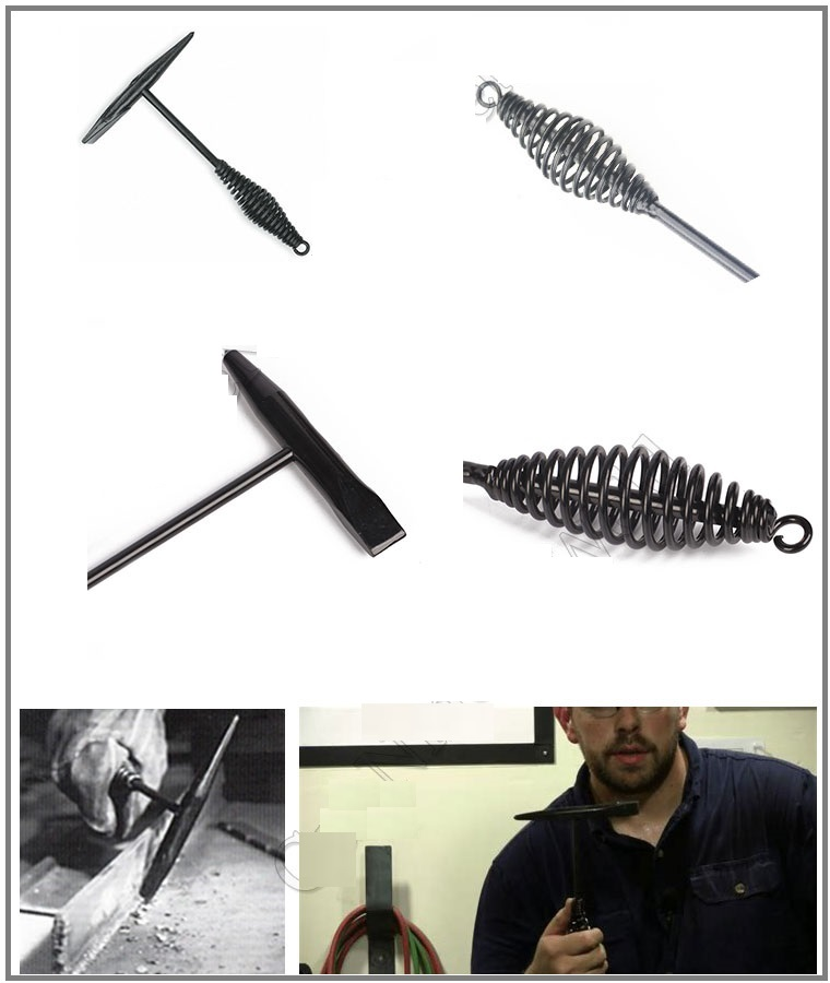 spring handle welding hammer