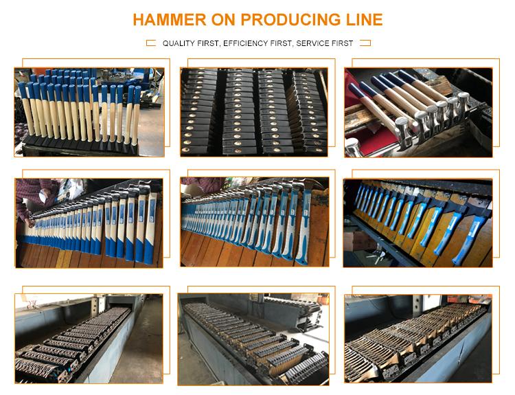 1500g fibreglass handle machinist hammer