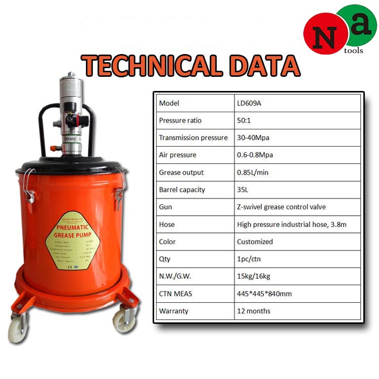pneumatic lubricant pump