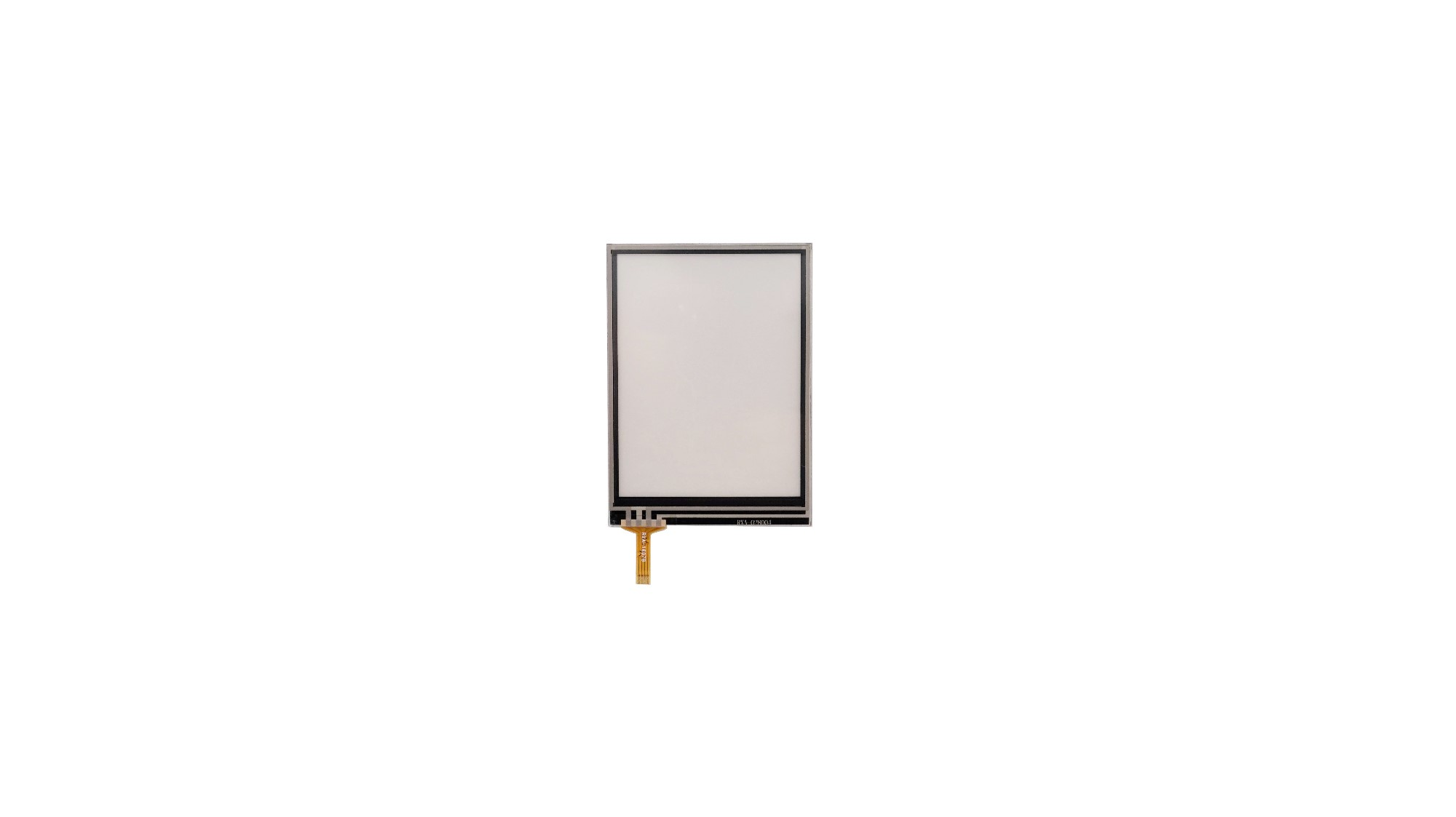 2.8 Inch 4wire Rtp Overlay Transparent Glass Touch Screen