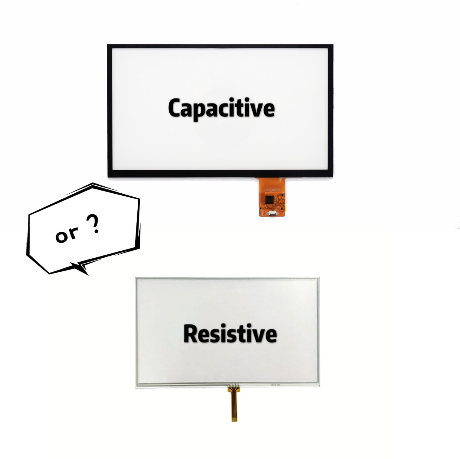 Capacitive touch or Resistive touch?What is the best choice?