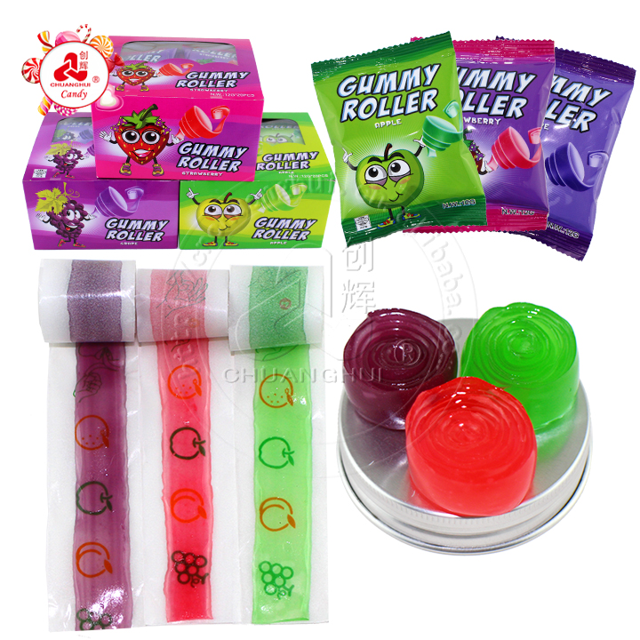 12g Color Gummy Roll Candy