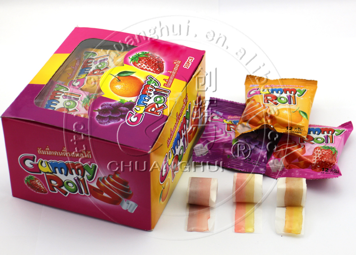 12g Color Gummy Roll Candy Manufacturers, 12g Color Gummy Roll Candy Factory, Supply 12g Color Gummy Roll Candy