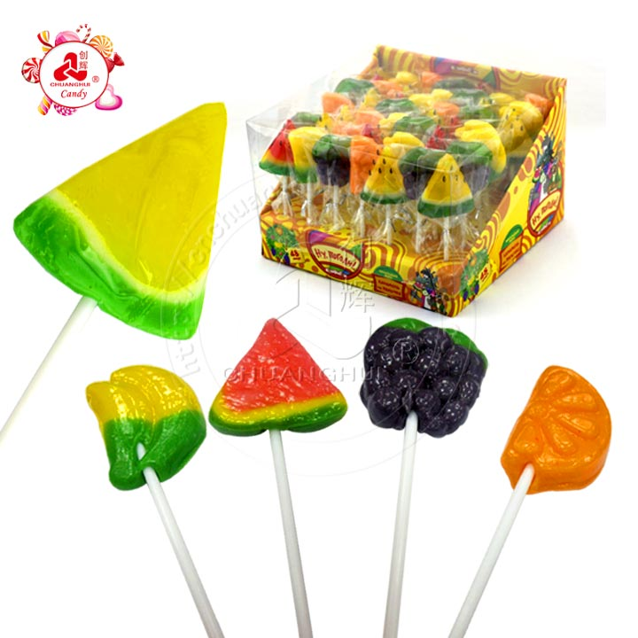 15g Fresh Fruits Shape Handmade Lollipop Candy
