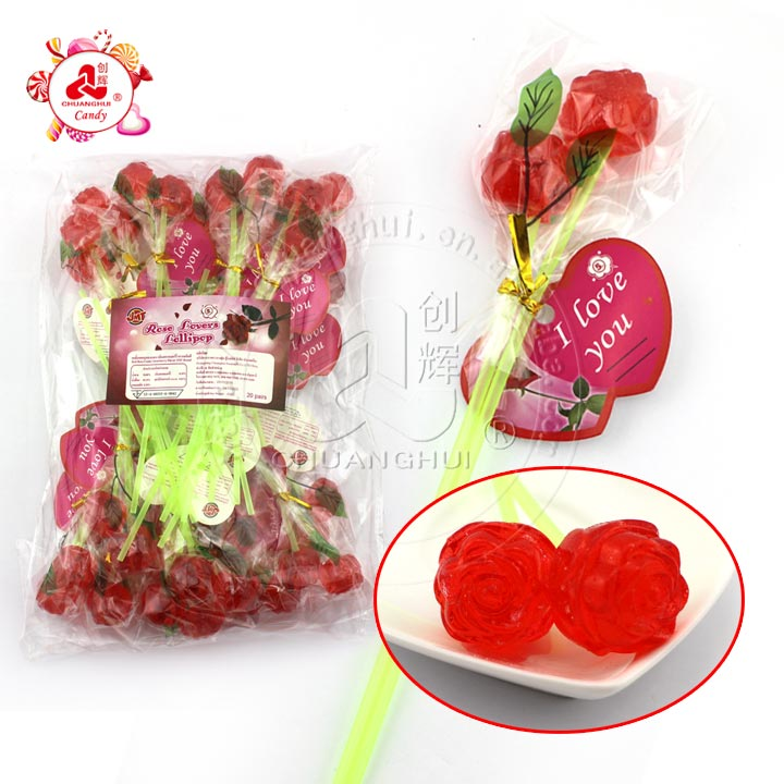 2 in 1 Rose Lollipop Candy