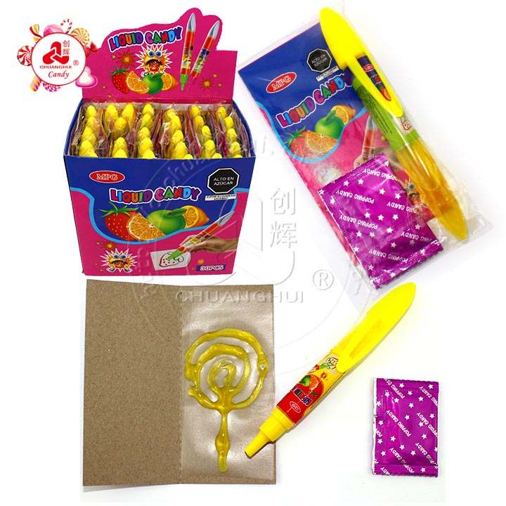 Liquid Jam Pen ,sticky rice papers with popping candy